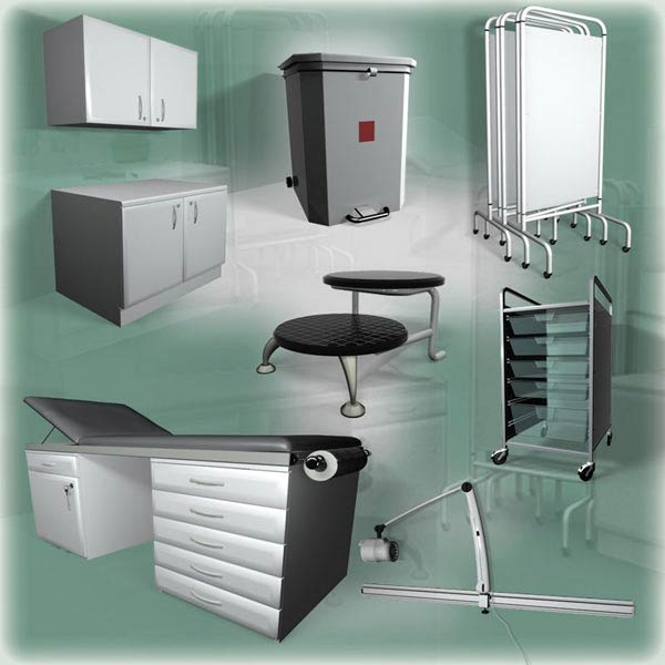 Medical Furniture Set 3d Model Furniture On Hum3d