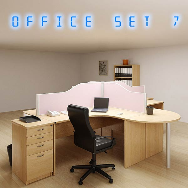 Office Set P07 3d model