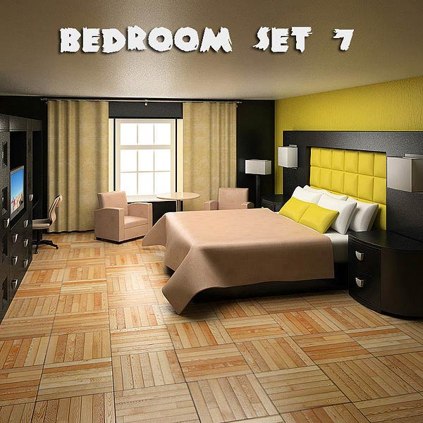 Bedroom Furniture 07 Set 3d model