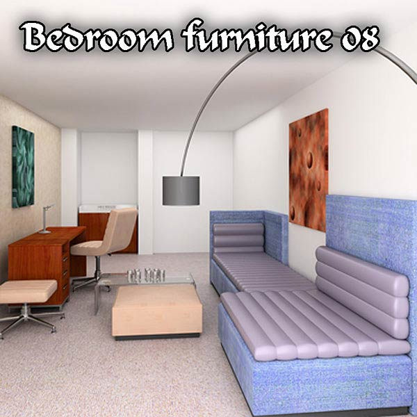 Bedroom Furniture 08 Set 3d model