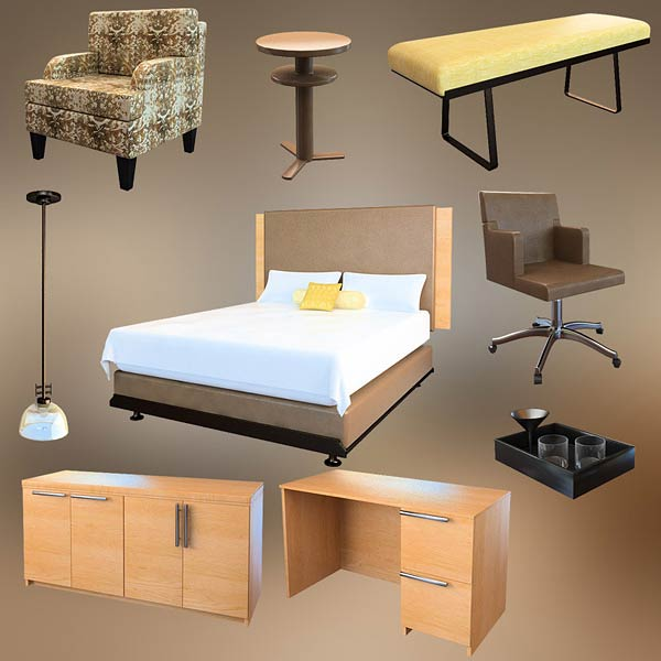 Bedroom Furniture 09 Set 3d model