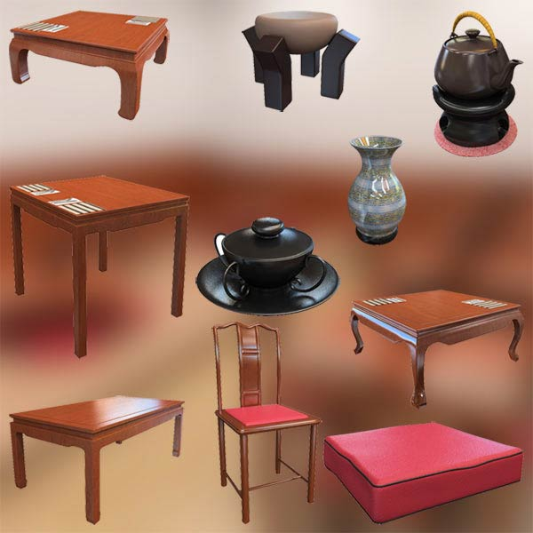 Chinese Interior Café 3d model