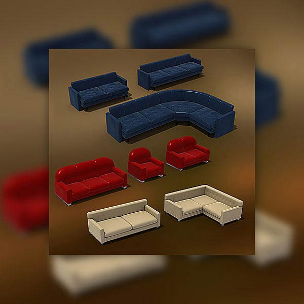 Furniture Set 01 3d model