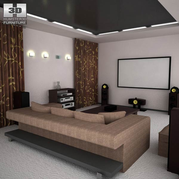 Home theater set 05 3d model furniture on hum3d for Home design 3d gratis italiano