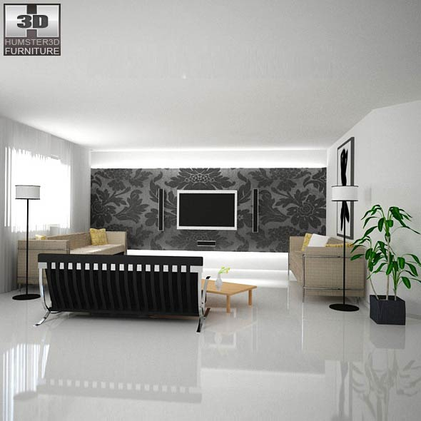 Home Theater Set 02 3d Model Hum3d