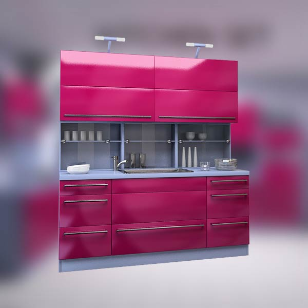 Kitchen set p2 3d model hum3d for Model model kitchen set