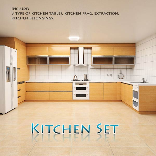 Kitchen Set P1 3d model