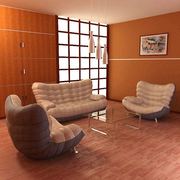 Living Room 05 Set 3d model