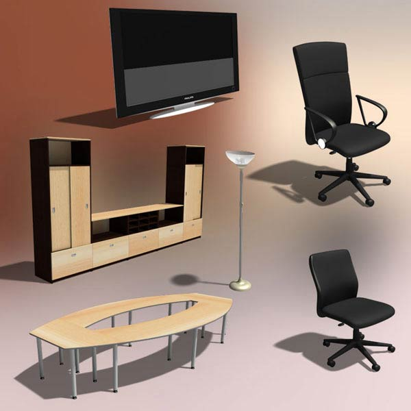Office Set 24 3d model