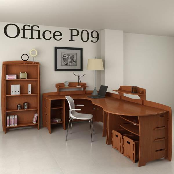 Office Set P09 3d model