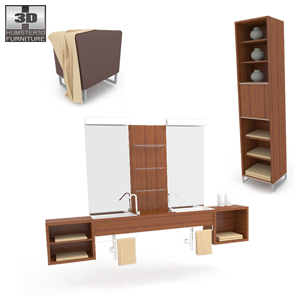 Bathroom Furniture 02 Set 3d model