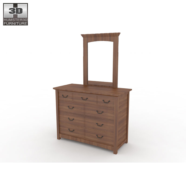 bedroom furniture 23 set 3d model hum3d