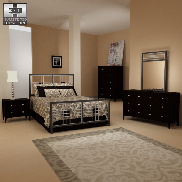 Bedroom Furniture 17 Set 3d Model Hum3d