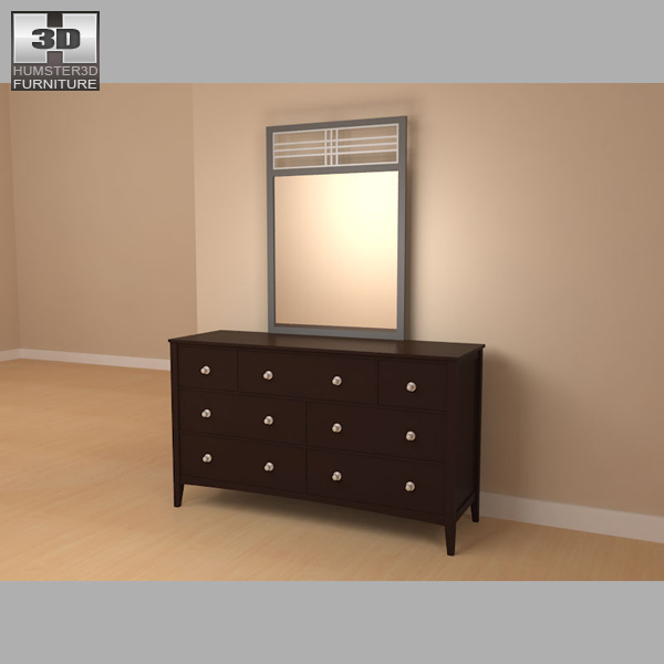 Bedroom furniture 17 set 3d model hum3d for Best rated bedroom furniture