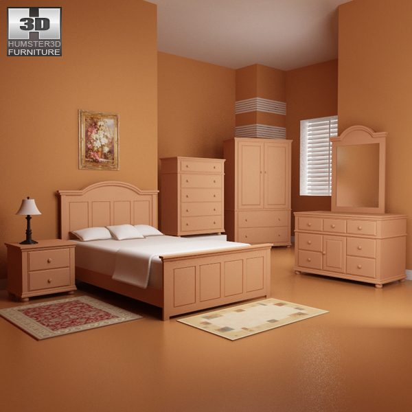 Bedroom Furniture 18 Set 3d model