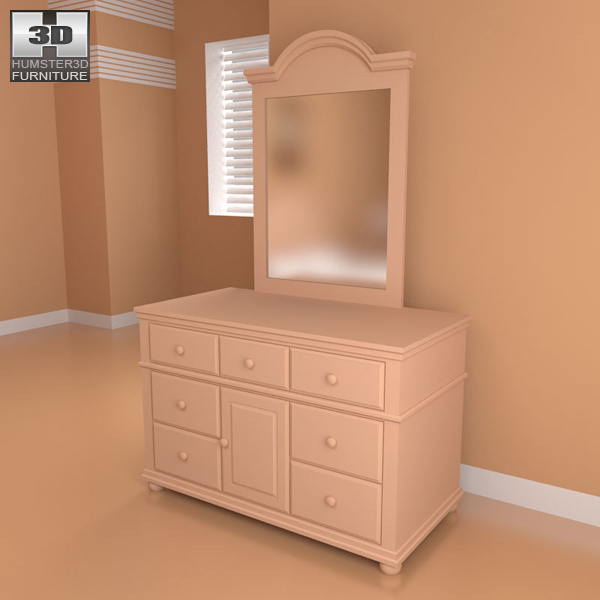 Bedroom furniture 18 set 3d model hum3d for Best rated bedroom furniture