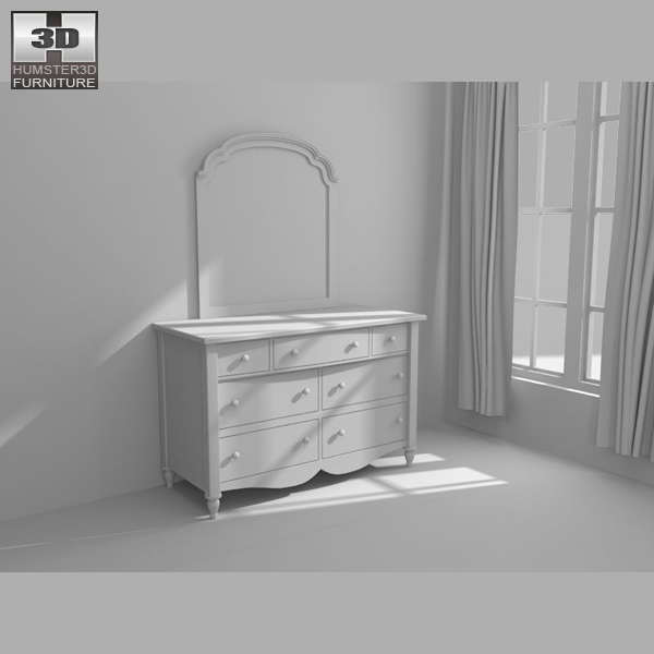Bedroom furniture 19 set 3d model hum3d for Best rated bedroom furniture
