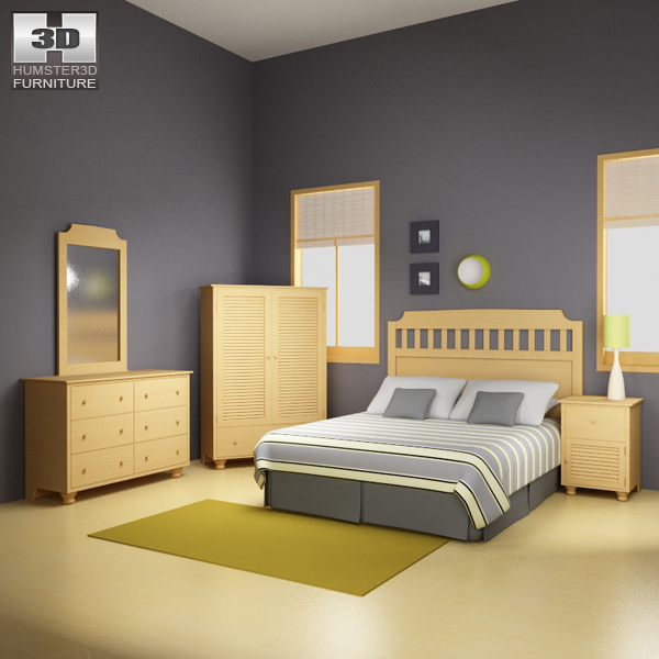 Bedroom Furniture 20 Set 3d model