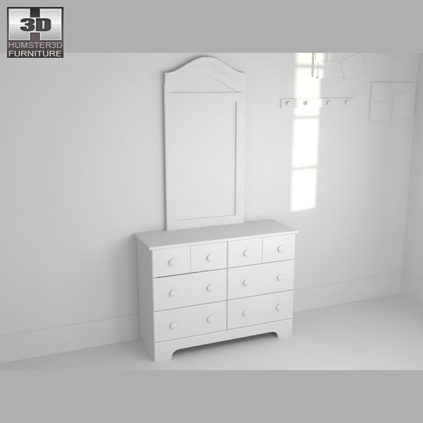 Bedroom furniture 21 set 3d model hum3d for Best rated bedroom furniture