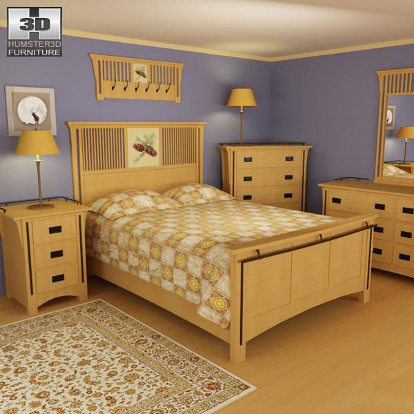 Bedroom Furniture 3d Models bedroom furniture 22 set 3d model - hum3d
