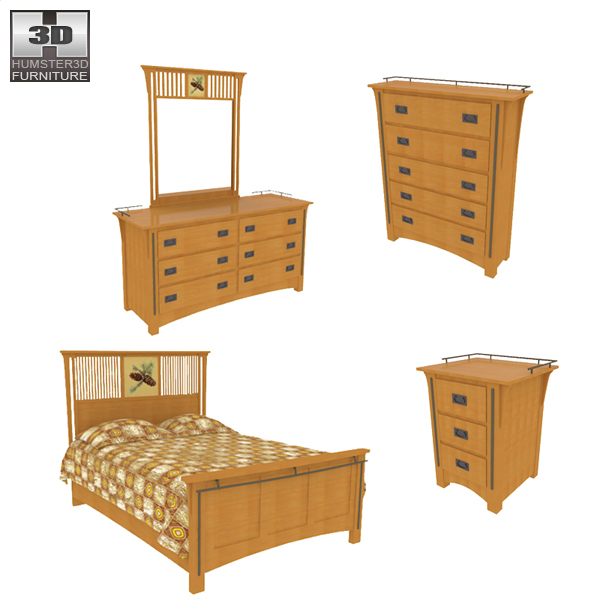 Bedroom Furniture 22 Set 3d Model Hum3d