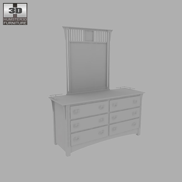 Bedroom furniture 22 set 3d model hum3d for Best rated bedroom furniture