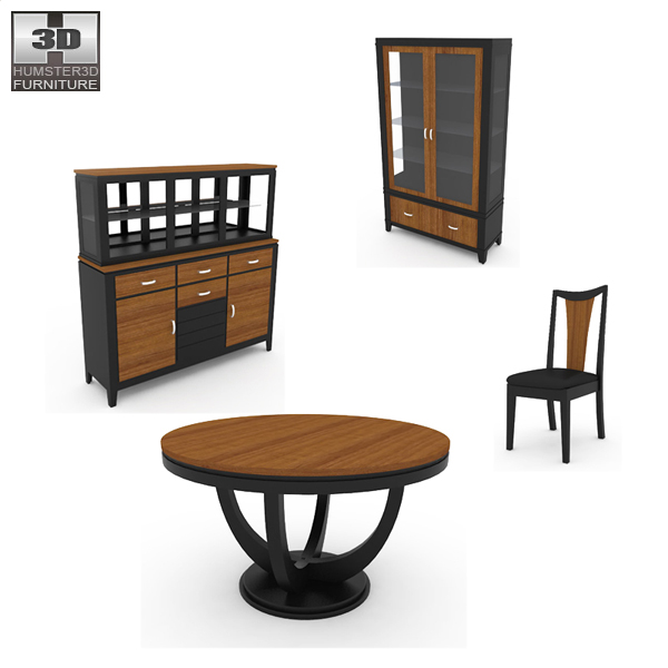 Dining Room 03 Set 3d model