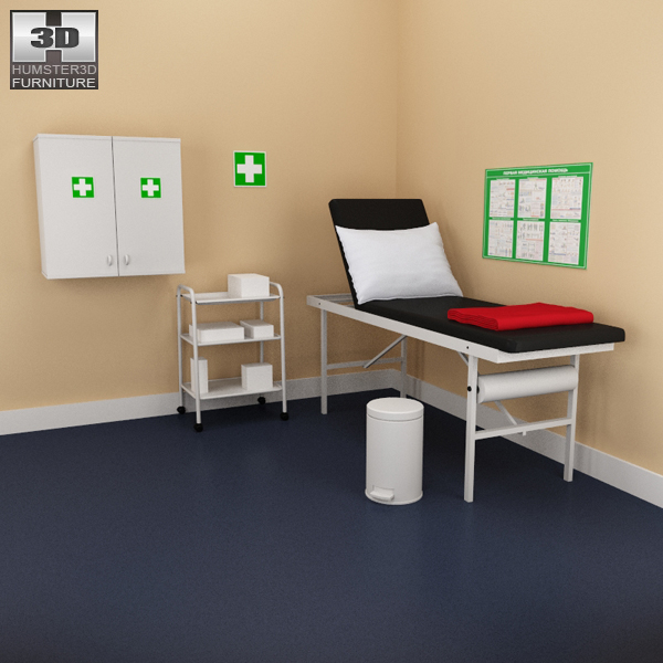 Hospital 02 Set – Medical Furniture 3d model