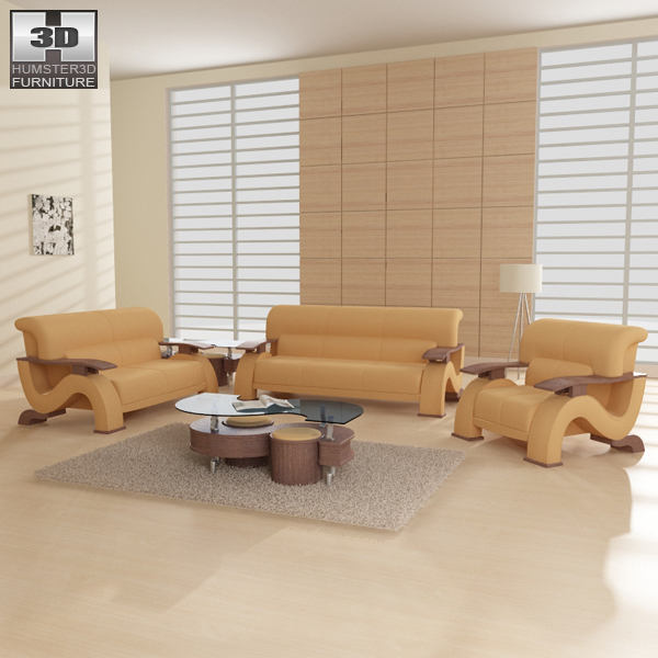 Living Room Furniture 06 Set 3d model