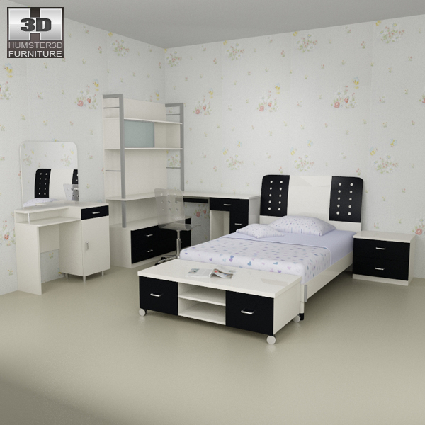 Nursery Room Furniture 06 Set Model
