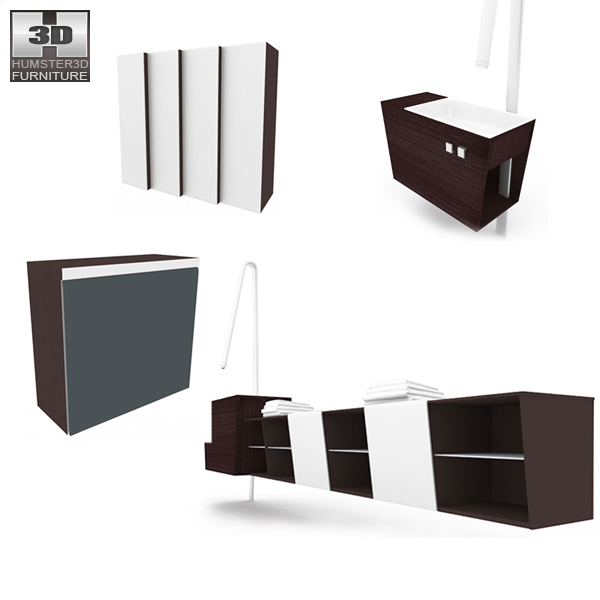 Bathroom Furniture 05 Set 3d model