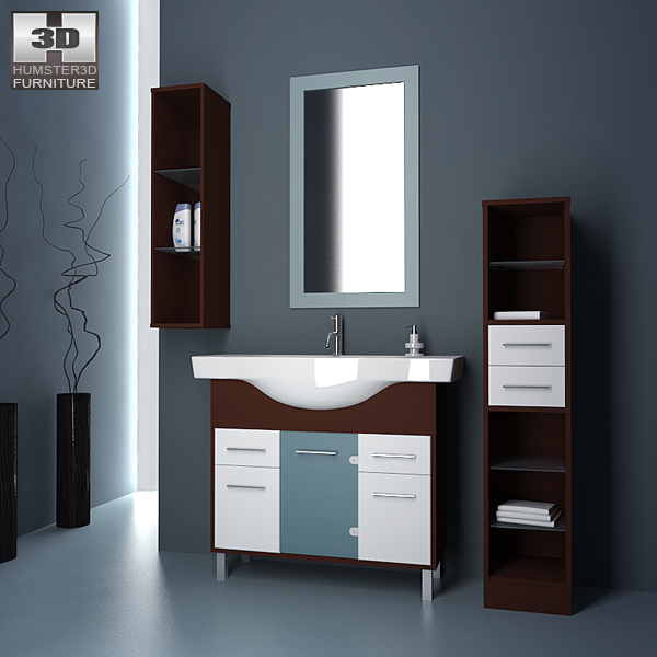 Bathroom 06 set 3d model hum3d for Bathroom design 3d model