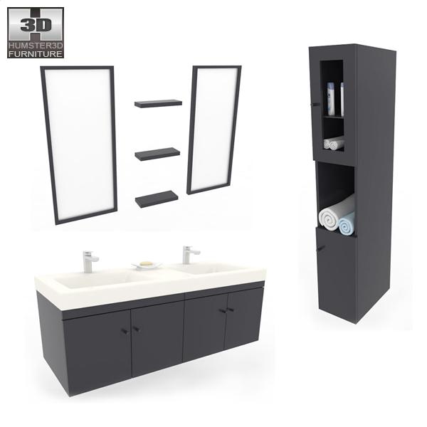 Bathroom Furniture 08 Set 3d model