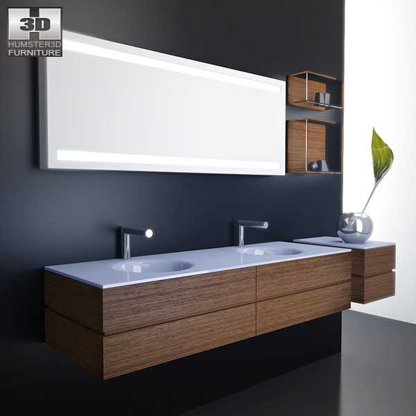 Bathroom 3D Model Bathroom Furniture 10 Set 3D Model  Hum3D