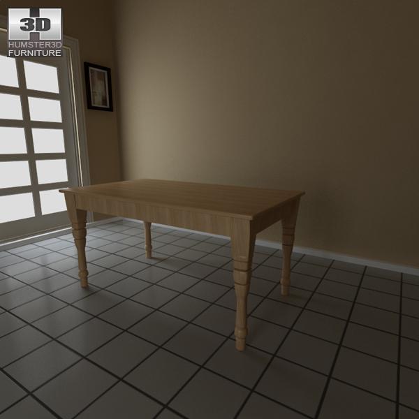 Dining room furniture 6 set 3d model hum3d for Dining room 3d model
