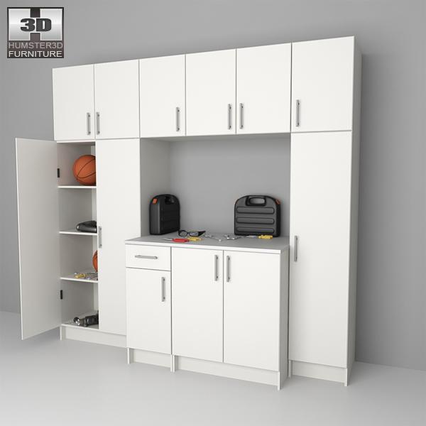 Garage Furniture 02 Set 3d model