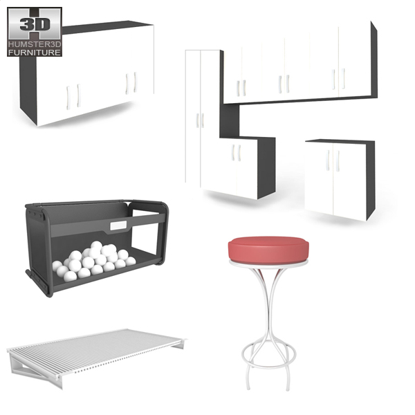 Garage Furniture 04 Set 3d model