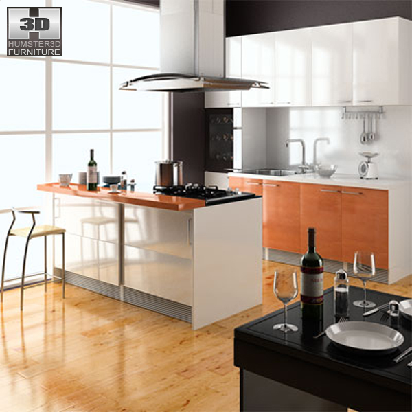 Kitchen Set 4 3D Model