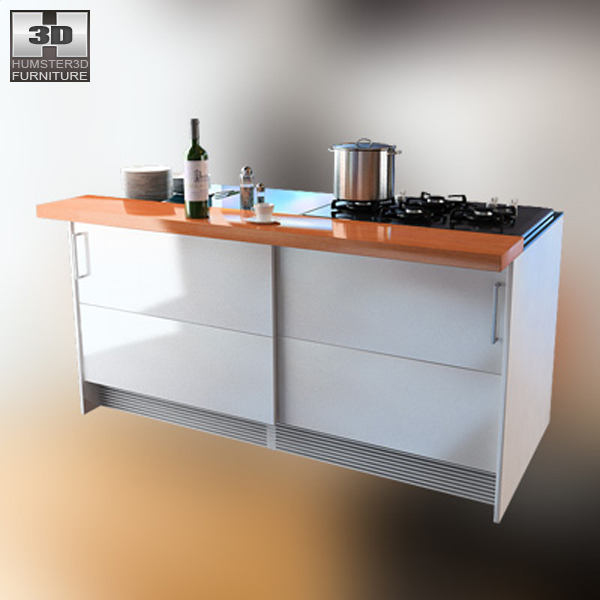 Kitchen set 4 3d model hum3d for Model model kitchen set
