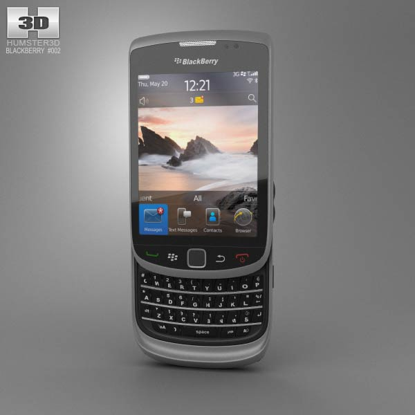 BlackBerry Torch 9800 3d model