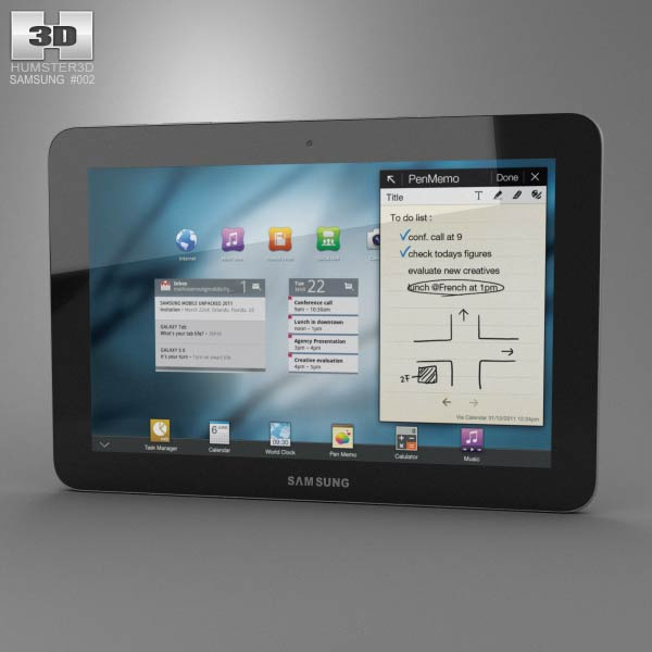 Samsung Galaxy Tab 10.1 3d model