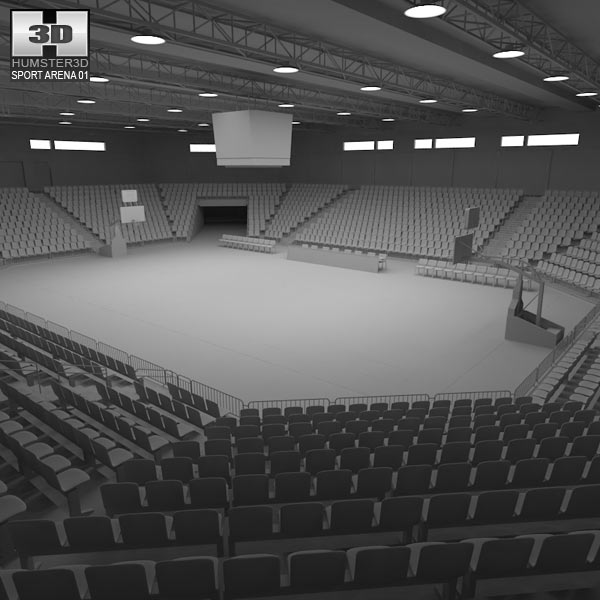 Stadium Lights C4d: Basketball Arena 3D Model
