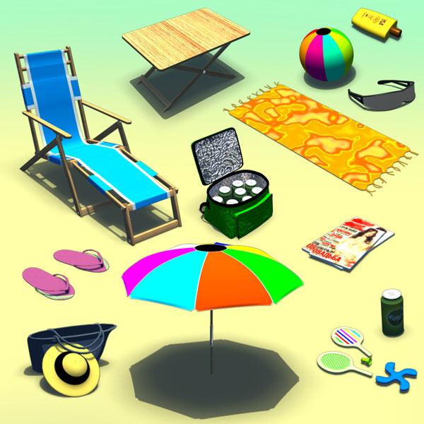 Beach Set 3d model