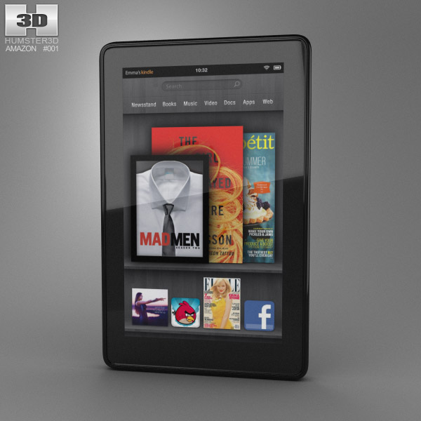 Amazon Kindle Fire 3d model