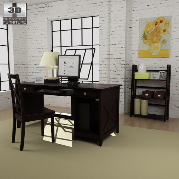 Home Workplace Furniture 07 3d Model ...