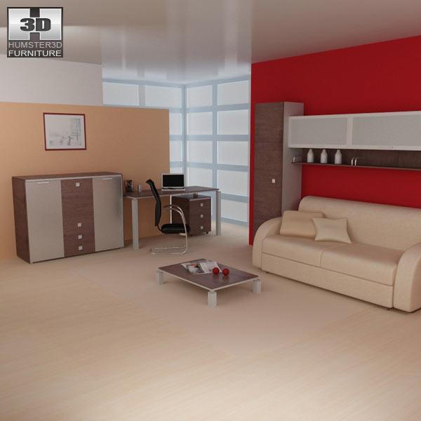 Living Room Models living room furniture 10 set 3d model - hum3d