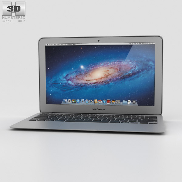 Apple MacBook Air 11 inch 3d model