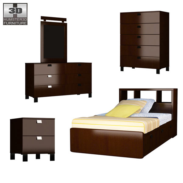 Bedroom Furniture 25 Set 3d model