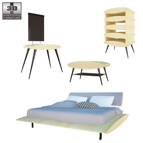 Bedroom Furniture 27 Set 3d model