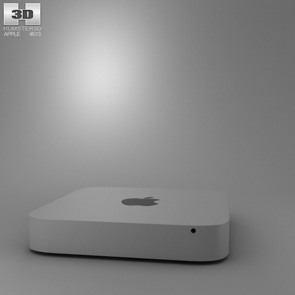 Apple Mac mini 2012 3d model